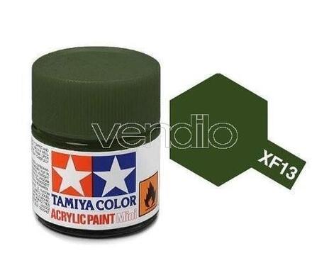 Mini Xf-13 Ja Green 10Ml Acrylic Color per Modellismo Tamiya