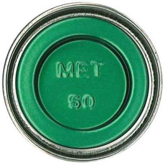 Humbrol No 50 Green Mist Metallic Enamel Tinlet No 1 14Ml - 2