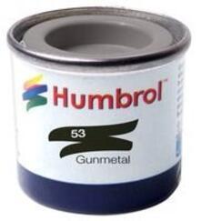 Humbrol No 53 Gunmetal Metallic Enamel Tinlet No 1 14Ml