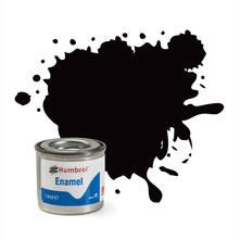 Humbrol No 85 Coal Black Satin Enamel Tinlet No 1 14Ml