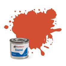 Humbrol No 132 Red Satin Enamel Tinlet No 1 14Ml