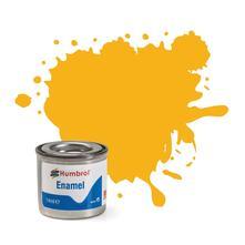 Humbrol No 154 Insignia Yellow Matt Enamel Tinlet No 1 14Ml