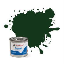 Humbrol No 195 Dark Green Satin Enamel Tinlet No 1 14Ml