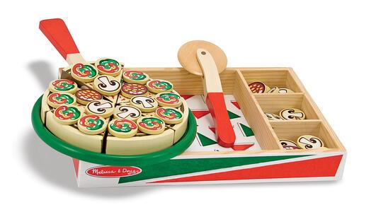 Melissa & Doug Wooden Pizza Cucina e cibo Set da gioco - 2