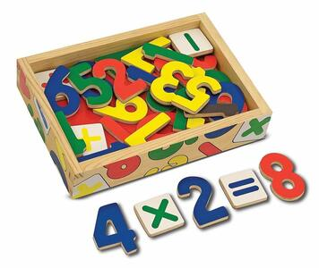 Magnetic Wooden Numbers - 10