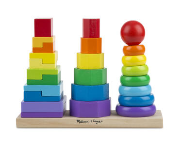 Melissa & Doug Geometric Stacker Toddler Toy
