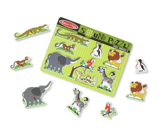 Sound Puzzle Zoo Animals Puzzle con formine 8 pezzo(i) - 2