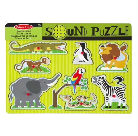 Sound Puzzle Zoo Animals Puzzle con formine 8 pezzo(i) - 7
