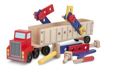 Melissa & Doug Big Rig Building Truck Wooden Play Set veicolo giocattolo - 2