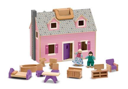 Melissa & Doug Fold & Go Mini Dollhouse casa per le bambole - 2