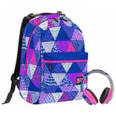 Cartoleria Zaino Double BackPack Seven Digital Special Edition. Viola-Rosa Seven