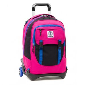 Cartoleria Zaino Plug Trolley Bicolor Invicta Plain. Rosa Invicta