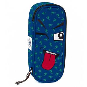 Cartoleria Astuccio Busta organizzata Lip Bag Invicta Fantasy Face. Blu Invicta