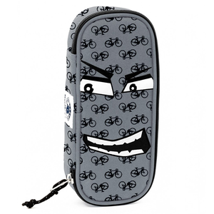 Cartoleria Astuccio Busta organizzata Lip Bag Invicta Fantasy Face. Bianco Invicta