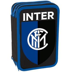 Cartoleria Astuccio attrezzato 3 zip Inter. Nero Gut 0