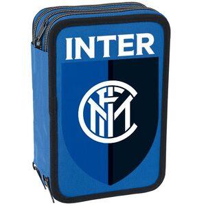 Cartoleria Astuccio attrezzato 3 zip Inter. Blu Gut 0