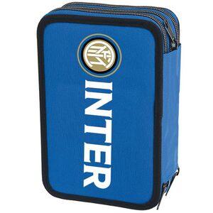 Cartoleria Astuccio attrezzato 3 zip Inter. Blu Gut 1