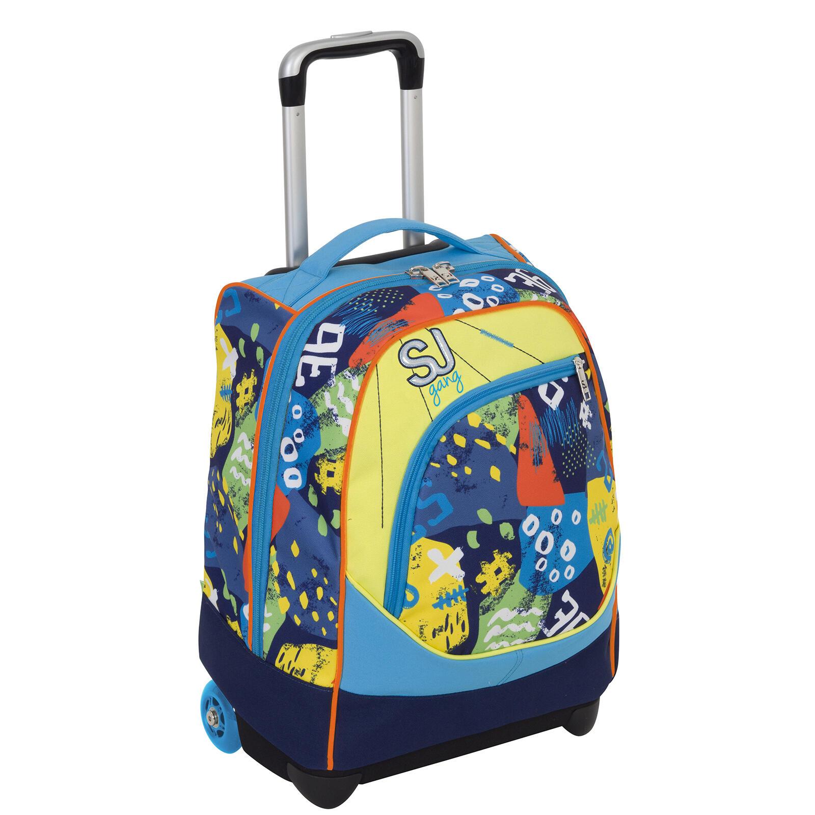 25363357de Zaino Maxi Trolley Boy SJ Gang. Azzurro-Giallo. Cartoleria; Reparto Zaini;  Marca Seven