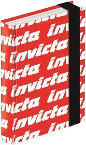 Diario Invicta 16 mesi, non datato, standard con elastico. Rosso