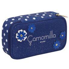 Cartoleria Astuccio busta attrezzata Quick Case Camomilla. Blu Camomilla