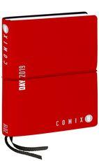 Cartoleria Agenda giornaliera 2019. 12 mesi, Comix U Day mini. Rosso Comix