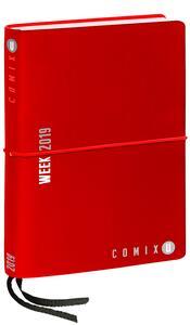 Agenda settimanale 2019. 12 mesi, Comix U Week medium. Rosso