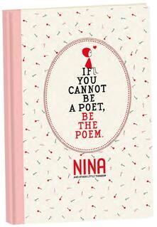Taccuino Nina copertina rigida. Bianco