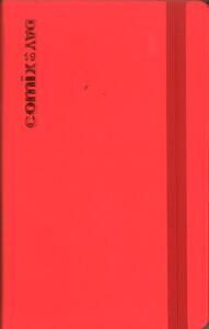 Agenda giornaliera 2019, 12 mesi, Comix Day mini con matita. Rosso