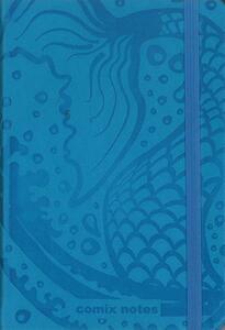 Taccuino notes Comix Special medium a pagine bianche. Azzurro