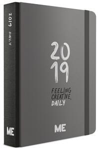Agenda giornaliera 2019, 12 mesi, ME My Evolution Day medium. Nero