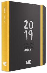 Agenda giornaliera 2019, 12 mesi, ME My Evolution Day medium. Nero-Giallo