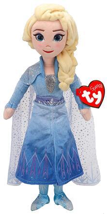 Ty T02406 - Principesse Disney - Peluche Elsa 33 Cm Con Suono