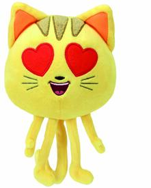 Ty. Emoji Peluche 20Cm. Cat Heart Eye