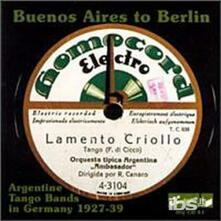 Buenos Aires to Europe - CD Audio