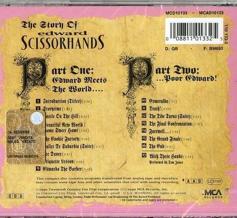 Edward Mani di Forbice (Edward Scissorhands) (Colonna sonora) - CD Audio di Danny Elfman - 2