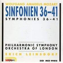 Sinfonien - CD Audio di Wolfgang Amadeus Mozart,Erich Leinsdorf