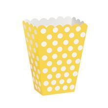 Scatole Popcorn Sorpresa A Pois Giallo 8  Pz