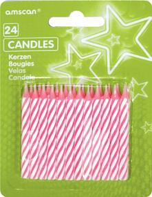 24 Candeline Rosa