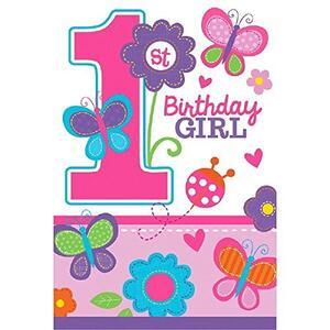 Compleanno Rosa. 8 Inviti Con Busta