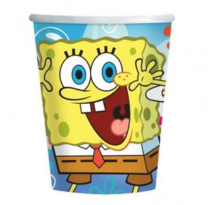 Set 8 Bicchieri in Plastica SpongeBob