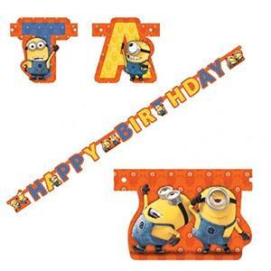 Scritta Happy Birthday. Minions - 2