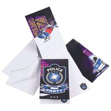 Inviti Compleanno Polizia Bustine 8pz 998289
