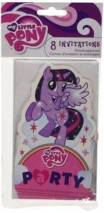 Idee regalo My Little Pony. Rainbow. 8 Inviti con Busta Giocoplast
