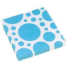 Solid Colour Dots Caribbean Blue. 20 Tovaglioli 33X33Cm