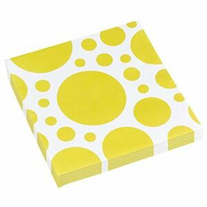 Solid Colour Dots Yellow. 20 Tovaglioli 33X33Cm