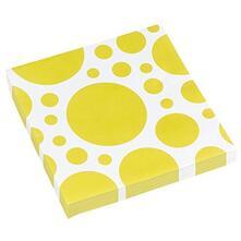 Solid Colour Dots Yellow. 20 Tovaglioli 33X33Cm