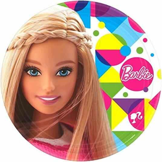Barbie Sparkle. 8 Piatti 23 Cm