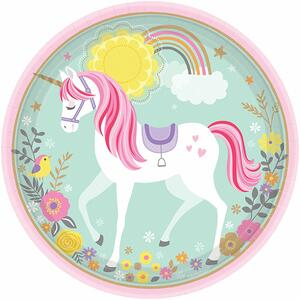 Magical Unicorn. 8 Piatti 23 Cm