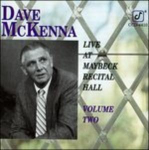CD Live at Maybeck vol.2 di Dave McKenna