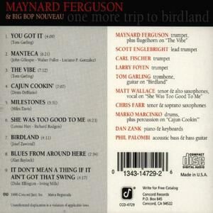 One More Trip to Birdland - CD Audio di Maynard Ferguson - 2